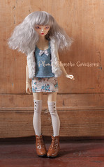 Blue lady :) (Plume Blanche Crations) Tags: minifee rheia activeline mnf dollclothing handmadeclothes plumeblanchecrations plumeblanche slimmsd bjd balljointeddoll