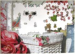 Katze im Korb (Leonisha) Tags: puzzle jigsawpuzzle unfinished