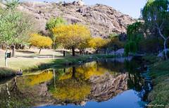 Capilla del Monte - El Paraiso (NatyCeballos) Tags: capilladelmonte montaa elparaiso agua arbol amarillo reflejo naturaleza airelibre yellow blue reflection montana nature
