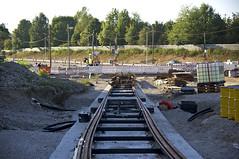 Auffllig ist die lange vorgezogene Weiche, die sich durch den Bogen der Schleife zieht (Frederik Buchleitner) Tags: baustelle bergamlaim haidhausen linie25 mvg munich mnchen neubaustrecke steinhausen strasenbahn streetcar tram trambahn