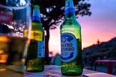 a beautiful evening (pastiera2011) Tags: mountain twiglight purple outdoor beer