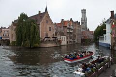 Bruges (JOAO DE BARROS) Tags: barros joo bruges belgium channel boat people architecture