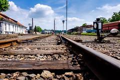 Rails to nowhere (bobbybee2000) Tags: fujixt10 outdoor bluesky schienen eisenbahn trainstop blauerhimmel shadesanlight lichtundschatten fujinon