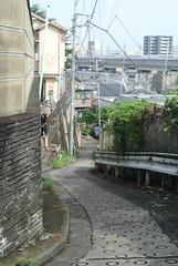 tokyo5991 (tanayan) Tags: urban town cityscape tokyo jyujyo japan nikon j1    road street alley slope