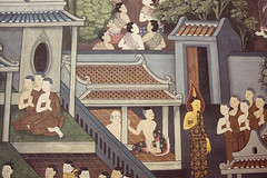 Secretly Jealous (Swebbatron) Tags: bangkok thailand asia southeastasia temple wat city watpho recliningbuddha detail wall scene canon 1100d travel 2015 lifeofswebb radlab gettotallyrad