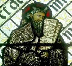 [45607] St Editha, Tamworth : Moses (Budby) Tags: tamworth staffordshire church window stainedglass preraphaelite