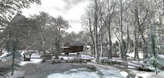 first snow at heavenly groove (flubs) Tags: nature landscape winter flickr surreal dreamy sl slphotography secondlife