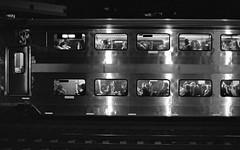 Night Train (Dalliance with Light) Tags: iso1600 nj newbrunswick night windows trix zeissplanartf14zf trainstation diafine scans bw nikonfm2 film train newjersey unitedstates us