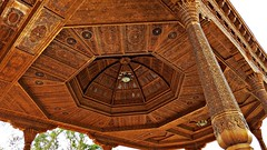 Gorgeous Woodwork in a Pavilion, Victory Park (h0n3yb33z) Tags: tajikistan khujand silkroad