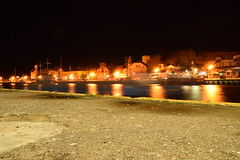 Mist trail in the river (navarrodave80) Tags: harbour night nightphotography longexposure city lights ustka poland nikon d3300 tamron davechmiel