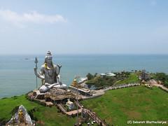 The statue of Lord Murudeshwar (Shiva) l Murudeshwar, Karnataka, India, 2016 (Debarati Bhattacharjee) Tags: travel travelphotography murudeshwar karnataka india colour indiaincolour canonpowershotsx110is canon