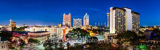 San Antonio Skyline Pano