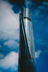 Shanghai_8 (hans-johnson) Tags: shanghai world finacial center centre building architecture skyscraper sky blue china chine lujiazui pudong canon eos 5d 5diii 5dm3 5d3 vsco 100mm prime primeshot shot metropolits city urban shanghaitower tower