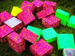 All the Presents are Wrapped (Steve Taylor (Photography)) Tags: christmas gift present xmas art digital colourful vivid grass lawn pattern