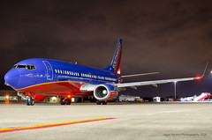 Southwest - N363SW - LIT (Jason W. Hamm) Tags: arkansas aviation airport aircraft airplanes adamsfield airlines boeing boeing737 737300 boeing737300 clintonnationalairport clouds d7000 737 nikon nikonphotography nightphotos nightphotography