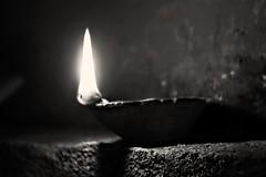 It's always darkest just beneath the light.. (ayan.pal12) Tags: monochrome bw happydiwali
