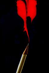 ... flaming pencil! ... (jane64pics) Tags: flame pencil contradiction pencilflame composite greystonescameraclub gcc janefriel janefriel2016