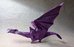 Nazgul (versión definitiva) (mrmicawer) Tags: papiroflexia origami papel nazgul espectro spectre anillo ring dragón tolkien