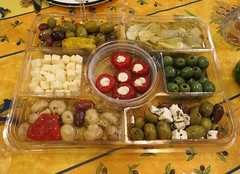 Sunday Colours - Saturday Afternoon with Friends (Pushapoze (MASA)) Tags: appetizers olives mushrooms artichokes feta mediteranianfood pickles