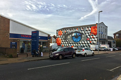 Keeping an Eye on the Road! (Jainbow) Tags: street art portsmouth southsea jainbow mydog mydogsighs