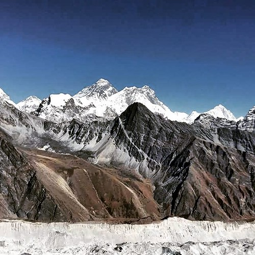 Gokyo Ri, aka Gokyo Peak, is a peak in the Khumbu region of the Nepal Himalayas. It is located on the west side of the Ngozumpa glacier, which is the largest glacier in Nepal and reputed to be the largest in the whole Himalayas. #gokeyotrekitinerary #sher