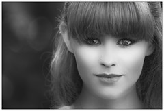 Some film star magic? (theimagebusiness) Tags: theimagebusiness theimagebusinesscouk portrait pretty people photographers portfolio zoe blackandwhite monochrome model film hollywood old retro attractive girl modelling beauty outdoors bokeh she female woman style closeup face fringe eyes eyecontact gaze stud reflection light makeover redhead flare cute elfin