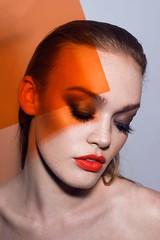 Colour Pop (Marissa Alden) Tags: orange colour color portrait beauty beautyphotography beautyblogger lipstick makeup marissaalden marissaaldenphotography magazine makeupartist studio light lighting