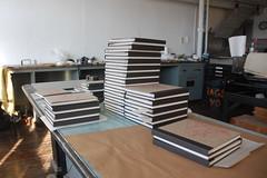 Phyllida Bluemel in the Studio (Women's Studio Workshop) Tags: bookarts bookbinding bookartist bookmaking silkscreen screenprinting screenprint