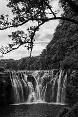 Shifen Waterfall BW (sherenelim) Tags: taiwan shifen waterfall