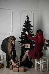 IMG_0069 (rodinaat) Tags: new year happy holiday tree christmas skull goat satan brutal metal metalhead longhaie redhair red black