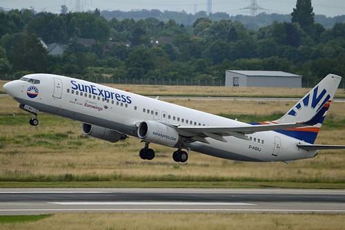 Eurowings (SunExpress) D-ASXJ Boeing 737-86N Winglets cn/30807-829 @ EDDL / DUS 27-06-2016