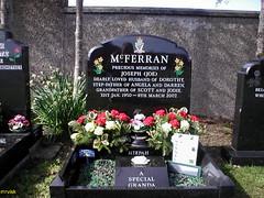 Royal Irish Memorial, Joe McFerran Royal Ulster Rifles .. 2nd Bn Royal Irish Rangers ' a Special Granda .. my friend. (mrvisk) Tags: old irish history british soldier headstone flowers grave comrade