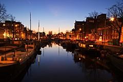 Noorderhaven, Groningen @ night (poindex) Tags: groningen noorderhaven night nacht canal street