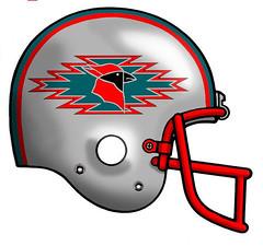 Arizona Cardinals alternate (Flagman00) Tags: football helmet redesign fantasy nfl arizona cardinals alternate navajo design apttern motiff