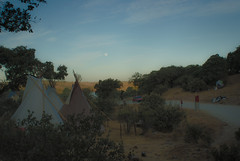 leave. but remember. (wolowczyk) Tags: sunrise summer dawn fullmoon moon morning sun road tipi tipis festival fest portugal trees tree art feelings landscape way up hill hills
