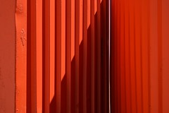 ORANGE #4 (TheManWhoPlantedTrees) Tags: tmwpt nikond3100 orange arts abstract lines geometry shadow verticalism