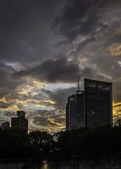 Clouds over Sydney Skyline (richardw666) Tags: clouds sky dusk skyline citi anz hydepark sydney nsw australia au