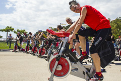 Spinning session (Brother's Art) Tags: adult exercising people sport smiling active bike body caucasian class club exercise female fit fitness group gym happy health healthy man out physical spin spinning sports sporty training woman working workout young