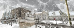 or harbour is closed because of to much snow (flubs) Tags: outdoor winter snow dreamy landscape nature surral flickr sl secondlife slphotography