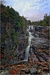 Silver Cascade Waterfall – Crawford Notch New Hampshire (Tom Wildoner) Tags: tomwildoner leisurelyscientistcom leisurelyscientist newhampshire crawford notch crawfordnotchstatepark water waterfalls silvercascade canon canon6d tripod hdr nature environment trees sky rocks northeast usa outdoors hiking