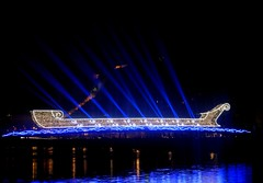 Festival of Light in Lyon 2016 (Hellodelyon) Tags: nikoncoolpixp7100 fdl2016 fetedeslumieres lyon 2016 fête lumières illuminations festival light night nuit blue boat bateau brightboat passerelleabbécouturier saône fêtedeslumières