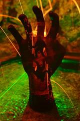It's a flippin' hand. (martbarras) Tags: martbarras lightpainting lpuk lpwa hand multiple exposure lens swap torch wirewool steelwool abandoned shoreham brighton lewes lasers vape tokina 1116mm sigma 1835mm itsaflippinhand sooc jpeg no photoshop camera rotation flipflop 180 silhouette orange green d7100 nikon