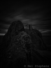 Castle (M6132756 0s1-0) (Mel Stephens) Tags: uk bw white black castle silver coast scotland long exposure aberdeenshire olympus structure coastal le zuiko omd dunnottar stonehaven 2013 em5 efex 918mm 20130613