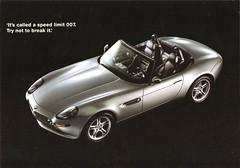 1999 BMW Z8 (aldenjewell) Tags: postcard 1999 bmw z8