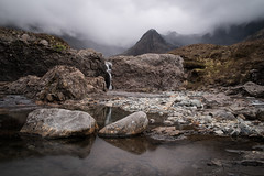 Fairy Pools (Percy M) Tags: sky mountains nature water grass clouds scotland rocks europe isleofskye outdoor stones heather peaks pinnacle