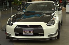 White Nissan GT-R with Black Hood (Marcus Widell - Automotive Photography) Tags: white black car japanese nissan rich expensive luxury supercar sportscar gtr