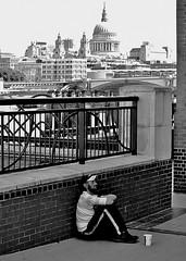 Outsider (jaykay72) Tags: street uk blackandwhite bw london candid streetphotography southbank londonist stphotographia
