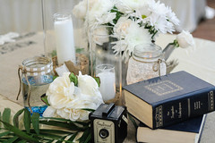 Wedding Decor (JenniBrownPhotographer) Tags: camera flowers wedding decorations party vintage table pretty mason reception setting jars