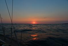 Ionian sunset (Dafydd Penguin) Tags: sunset sea italy seascape night sailboat nikon sailing shot greece boating 20mm nikkor f28 yachting ionian d600 ionia hallberg rassy