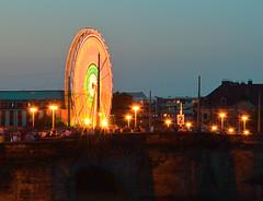 Stadtfest Dresden (superscheeli) Tags: night germany deutschland dresden nikon rad clear sachsen brücke altstadt flamme riesenrad beleuchtung stadtfest sy saxonia beleuchten